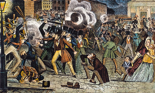 Philadelphia's Bible Riots of 1844 reflected a strain of anti-Catholic bias and hostility that coursed through 19th-century America.Granger Collection, New York