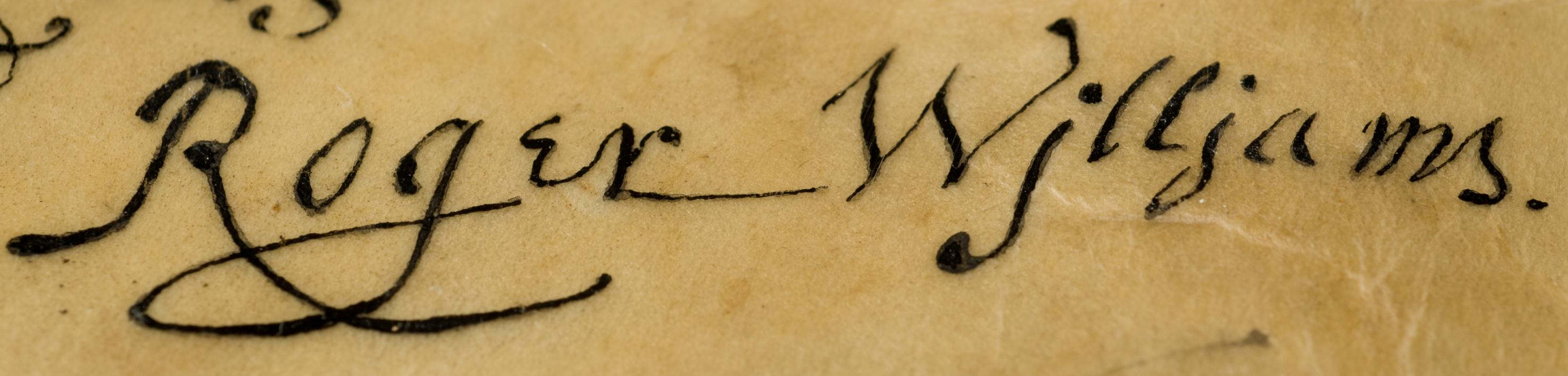 roger williams signature jpgRoger Williams 1636